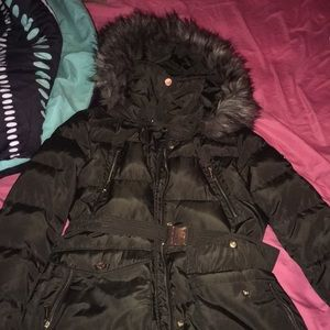 MK olive green winter coat